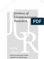 Information on the Journal of Undergraduate Research 2009-2010