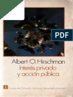 Interés privado y accion pública, Albert O. Hirschman