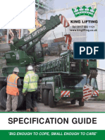 King Lifting Crane Hire Specification Guide