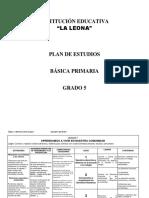 Plan de Estudio 5