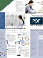Plaquette du logiciel d'enquêtes en ligne Net Survey - www.soft-concept.com