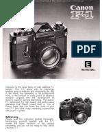 Manual Canon f1