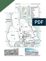 Industria minera y mapa físico de San Juan