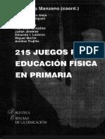 215 Juegos para educación física en primaria - J. Ignacio Manzano.pdf