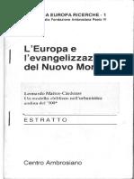 L'Europa e l'Evangelizzazione Del Nuovo Mondo Leonardo Mattos Cárdenas.