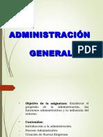 Introducciòn a la administración general