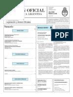 Boletín Oficial de la República Argentina, Número 33.325. 26 de febrero de 2016