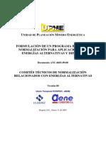 Comites Tecnicos de Normalizacion Relacionados Con Energias Alternativas