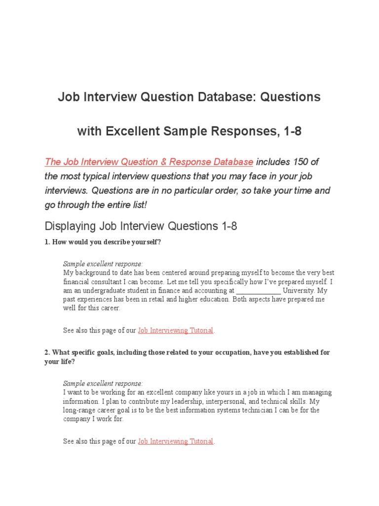 Attractive Job Interview Questions | Job Interview | Internship