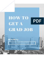 How to Get a Grad Job