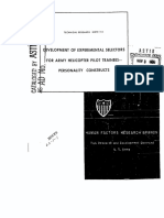 Development of Experimental Selectors for Army Helicopter Pilot Trainees - Personality Constructs