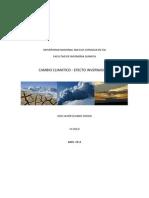Cambio Climatico - Efecto Invernadero