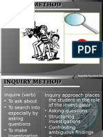 Inquiry Method