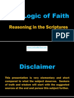 The Logic of Faith - Reasoning in the Scriptures