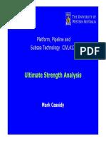 Ultimate Strength Analysis