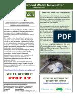 NHW Rural4 Newsletter February 2016