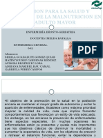 EDUCACION PARA LA SALUD Y PREVENCION DE LA MALNUTRICION EN EL ADULTO MAYOR