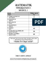 Matematik Tingkatan 3 Modul 1