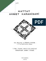 Hattat Ahmet Karahi̇sari̇ a Süheyl Ünver