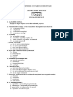 2003 Biologie Nationala Subiecte Clasa a IX-A 1