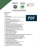2013 Biologie Nationala Clasa a Ixa Proba Teoretica Subiecte Si Bareme