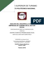 INVESTIGACIÓN DE CAMPO DE LA EMPRESA SOCIAL TURISTICA CENTRO TURÍSTICO PRISMAS BASÁLTICOS - Yazmin Arsola - Luis Ordoñez