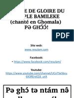 Hymne de Gloire Du Peuple Bamileke (Ghomala)