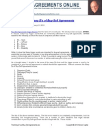 The Many D's of Buy Sell Agreements
