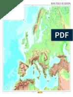 Mapa Físico Europa