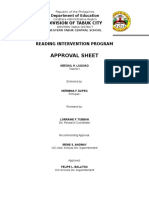 Reading Intervention Sample Proposal