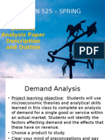 ECON 525 Spring 15 Instructions for Analysis of Demand Project