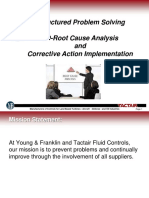 8D Root Cause Analysis and CA Implementation