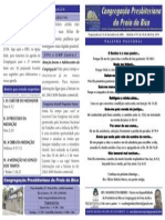 BOLETIM DE 18-04-10 - CONGREGAÇÃO