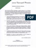 Comunicado Acerca de Denuncias en Huamachuco
