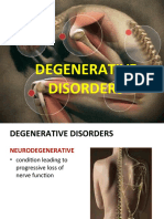 Degenerative Disorders:PARKINSON'S DISAESE, HUNTINGTON'S DISEASE, ALZHEIMER'S DISEASE, AMYOTROPHIC LATERAL SCLEROSIS