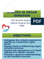 Updates on Organ Donation