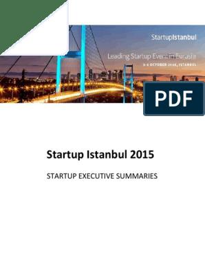 Executive Summary Startup Istanbul v1 2 | Tech Start Ups