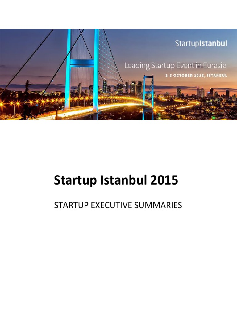 Executive Summary Startup Istanbul v1 2 | Spotify | Startup