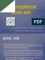 Karakteristik Suhu Air