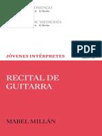 Programa del ciclo Jóvenes Intérpretes