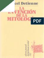 Detienne Marcel - La Invencion de La Mitologia