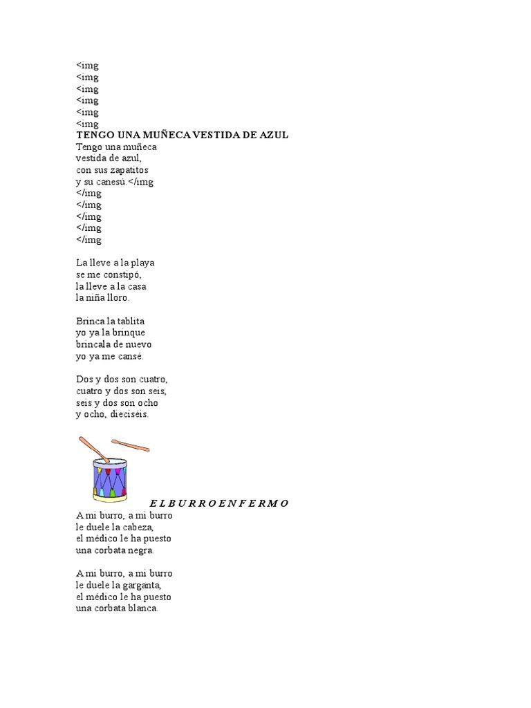 Letra Canciones Infantiles