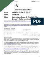 Agenda Frontsheet Tuesday 01-Mar-2016 10.00 Regeneration Committee[1]