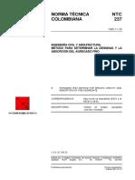 NTC 237 Método para Determinar la Densidad y la Absorción del Agregado Fino.pdf