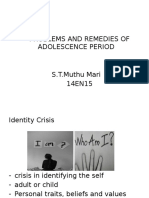problems of adolescent age and remedy