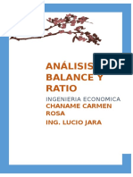 analisis de balance y ratio