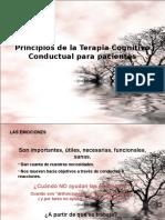Principios de La Terapia Cognitivo Conductual