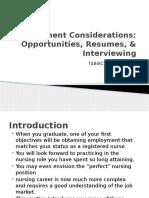 Employment Considerations