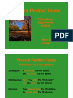 English - The Present Perfect Tense