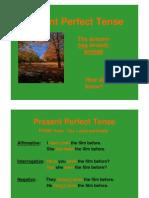 English - The Present Perfect Tense